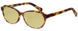 Profile View of Eyebobs CPA 2738-19 Designer Polarized Reading Sunglasses with Custom Cut Powered Sun Flower Yellow Lenses in Matte Tortoise Havana Brown Gold Unisex Cateye Full Rim Acetate 51 mm