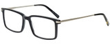 Profile View of Eyebobs Gus 3155-00 Mens Rectangle Designer Reading Glasses in Black Silver 57mm