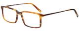Profile View of Eyebobs Gus 3155-19 Mens Designer Reading Glasses Matte Tortoise Brown Gold 57mm