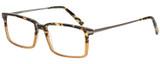 Profile View of Eyebobs Gus 3155-77 Men's Designer Reading Glasses Tortoise Amber Gunmetal 57 mm