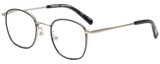 Profile View of Eyebobs Inside 3174-00 Unisex Square Designer Reading Glasses Black Silver 48 mm