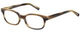 Profile View of Eyebobs Over Served 2226-87 Designer Bi-Focal Prescription Rx Eyeglasses in Brown Horn Marble Unisex Round Full Rim Acetate 51 mm
