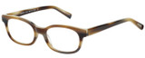 Profile View of Eyebobs Over Served 2226-87 Designer Progressive Lens Prescription Rx Eyeglasses in Brown Horn Marble Unisex Round Full Rim Acetate 51 mm