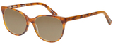 Profile View of Eyebobs Sweetie 3150-06 Designer Polarized Sunglasses with Custom Cut Amber Brown Lenses in Orange Tortoise Havana Unisex Cateye Full Rim Acetate 54 mm
