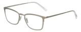 Profile View of Eyebobs Jack Dandy Square Designer Reading Glasses Gun Metal Silver Crystal 51mm
