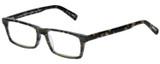 Profile View of Eyebobs Number Cruncher Designer Bi-Focal Prescription Rx Eyeglasses in Striped Grey Brown Tortoise Havana Unisex Rectangle Full Rim Acetate 53 mm