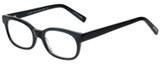 Profile View of Eyebobs Over Served Designer Single Vision Prescription Rx Eyeglasses in Gloss Black Unisex Round Full Rim Acetate 51 mm