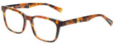 Profile View of Eyebobs C See Through Reading Glasses Lt Tortoise Havana Brown Gold Crystal 52mm
