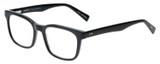 Profile View of Eyebobs C See Through Square Full Rim Designer Reading Glasses Gloss Black 52 mm