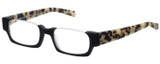 Profile View of Eyebobs Snippy .5-Rimless Reading Glasses Matte Black Leopard Grey Tortoise 48mm