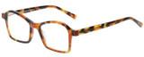 Profile View of Eyebobs Sparkler Designer Single Vision Prescription Rx Eyeglasses in Light Tortoise Havana Brown Gold Crystal Ladies Square Full Rim Acetate 49 mm