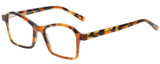 Profile View of Eyebobs Sparkler Designer Bi-Focal Prescription Rx Eyeglasses in Light Tortoise Havana Brown Gold Crystal Ladies Square Full Rim Acetate 49 mm