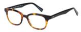 Profile View of Eyebobs Touche Designer Progressive Lens Prescription Rx Eyeglasses in Tortoise Havana Brown Gold Black Ladies Cateye Full Rim Acetate 48 mm