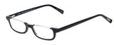 Profile View of Eyebobs What Inheritance Designer Single Vision Prescription Rx Eyeglasses in Gloss Black Unisex Rectangle Semi-Rimless Acetate 47 mm