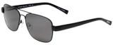 Profile View of Eyebobs Big Ball Unisex Aviator Sunglasses Dark Gun Metal Black/Smoke Grey 56 mm