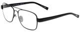 Profile View of Eyebobs Big Ball Designer Single Vision Prescription Rx Eyeglasses in Gun Metal Black Unisex Aviator Full Rim Metal 56 mm