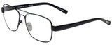 Profile View of Eyebobs Big Ball Designer Bi-Focal Prescription Rx Eyeglasses in Gun Metal Black Unisex Aviator Full Rim Metal 56 mm