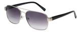 Profile View of Eyebobs Big Ball Aviator Sunglasses Gun Metal Silver w/Smoke Grey Gradient 56 mm