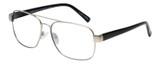 Profile View of Eyebobs Big Ball Designer Reading Eye Glasses in Gun Metal Silver Unisex Aviator Full Rim Metal 56 mm