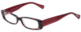 Profile View of Eyebobs Co Conspirator Designer Reading Glasses in Black Red Pink Tortoise 51 mm