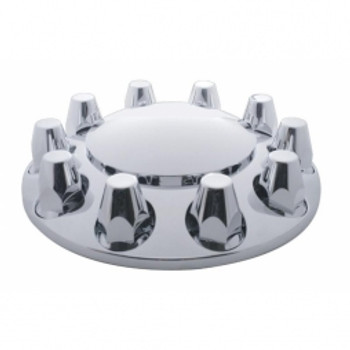 Economy Chrome Dome Front Axle Cover w/ 33mm Nut Cover - Thread-On
