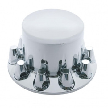 Economy Chrome Dome Rear Axle Cover w/ 33mm Nut Cover - Thread-On