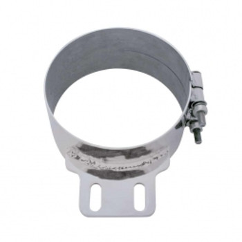 """7"""" Stainless Butt Joint ExhaustClamp - Straight Bracket"""