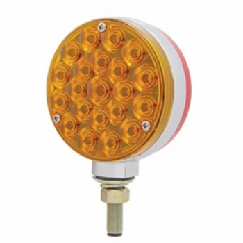 42 LED Double Face Turn Signal Light - Amber & Red LED/Amber & Red Lens