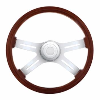 """18"""" 4 Spoke Steering Wheel w/ Hub - Freightliner 1989-July 2006"""
