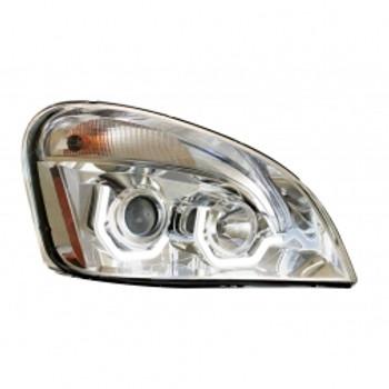 2008+ Freightliner Cascadia Chrome Projection Headlight w/ LED Position Light - Passenger