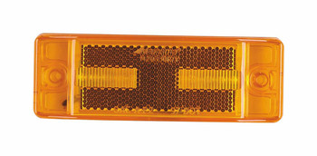"Maxxima M20330Y Amber 2"" x 6"" LED Clearance Marker/Auxiliary Turn Signal Light with Reflectorized Lens"