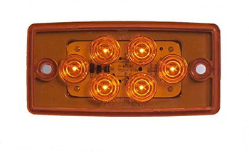 Maxxima M20361Y 6 LED Amber LED Mount Cab Marker Light