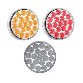 """TRUX 4"""" DUAL RED/WHITE STOP-TURN & TAIL LED-TLED-4X40"""