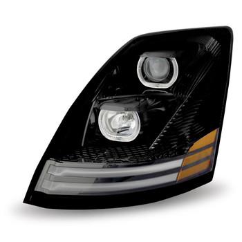 TRUX VOLVO VNL LH BLACK H/LAMP ASSY W/LED RL-TLED-H54