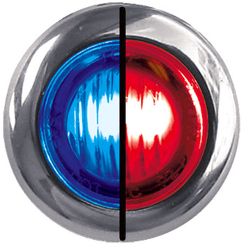 TRUX MINI BUTTON DUAL REVOLUTION RED/BLUE LED- TLED-BX3RB