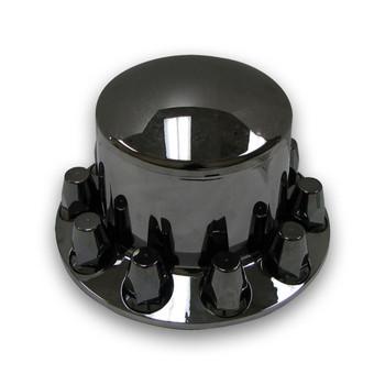 TRUX BLACK CHROME PLASTIC ABS REAR HUB COVER W REMOV- THUB-RP33B
