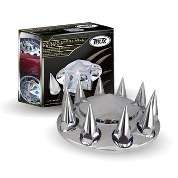 TRUX Chrome Plastic ABS Front Hub Cover with Removeable-THUB-FRP33P