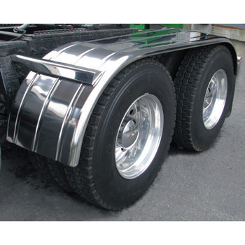 """TRUX 108 Fully Ribbed Full Fender with Rolled Edge (27""""-TFEN-F15"""