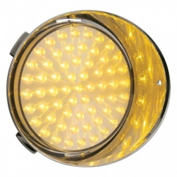 61 LED Freightliner Daytime Running Light (Passenger) - Amber LED/Clear Lens