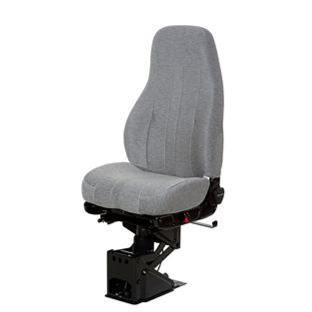 SEAT- CAPTAIN HI CLTH BLK-GRY W/O ARMS-NTS 50764 066