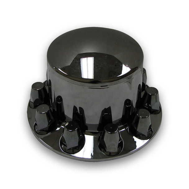 TRUX BLACK CHROME PLASTIC ABS REAR HUB COVER W REMOV- THUB-RP33B