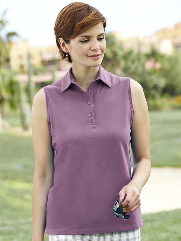 8dbb161c1779b Sleeveless Pique Polo Shirt