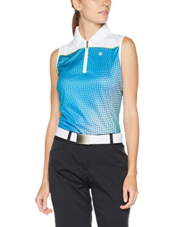 Island Green Sleeveless Sublimated Mix Polo Shirt