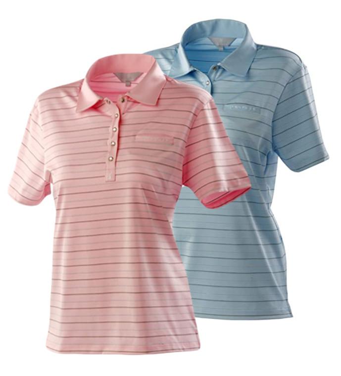 Pga Tour ladies stripe pocket polo shirt