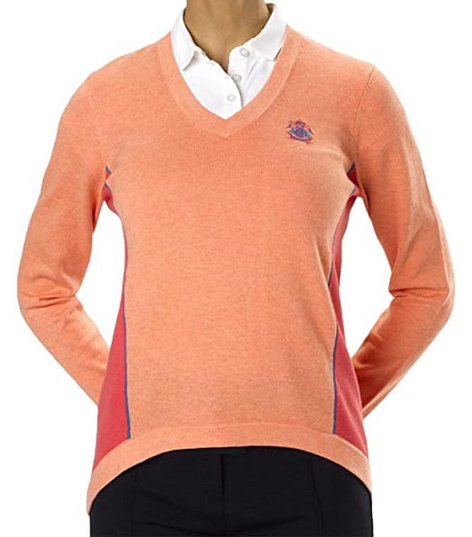 IJP Design Women's Ladies Dove Golf Jumper-Peach