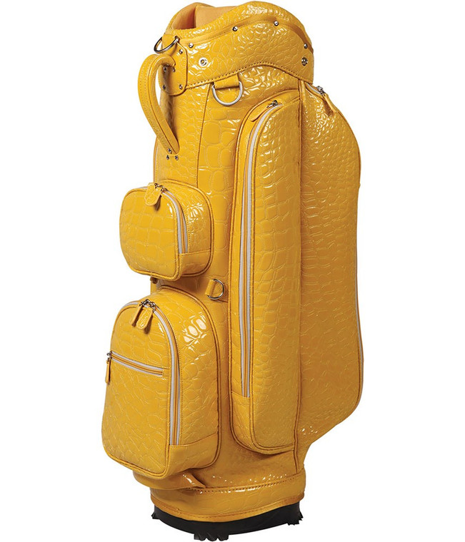 """OUUL Alligator Collection Ladies """"A"""" Cart Bag Yellow"""