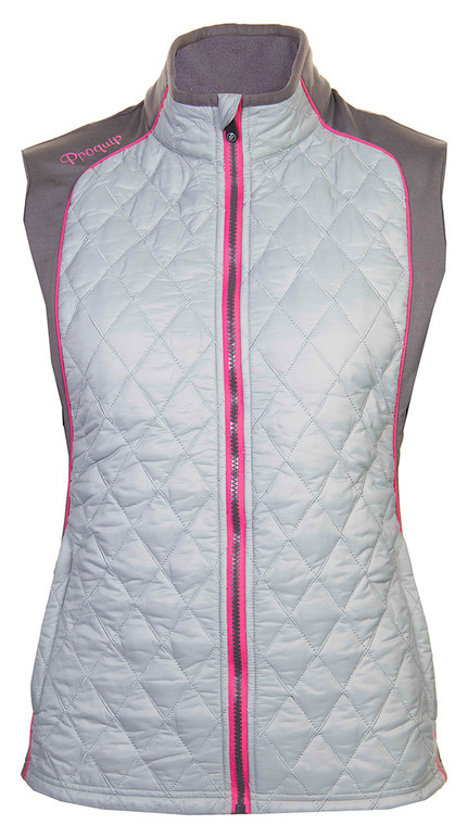 ProQuip Ava  Ladies Therma Tour Quilted Gilet Grey