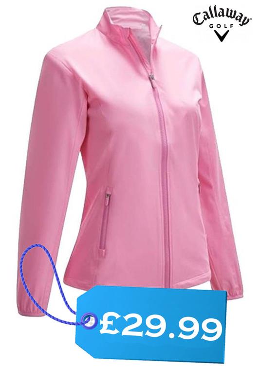 Callaway Ladies Long Sleeve Two Tone Wind Jacket Pink