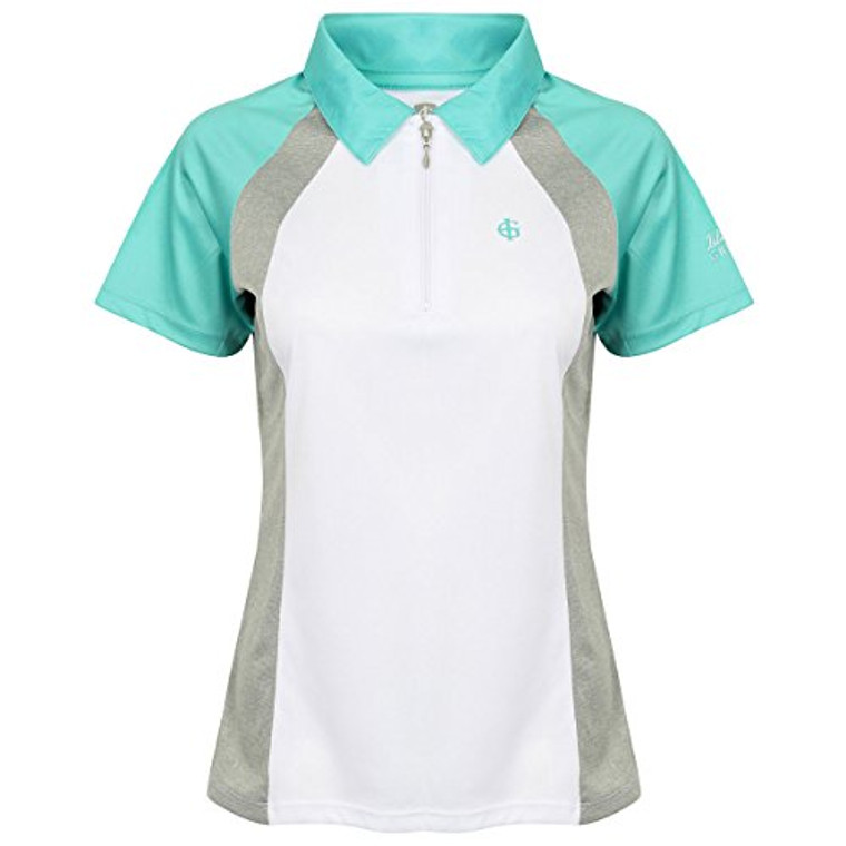 Ladies 1/2 Zip Polo Contrast Raglan sleeves Cool pass high performance technical fabric, providing excellent wearer comfort.