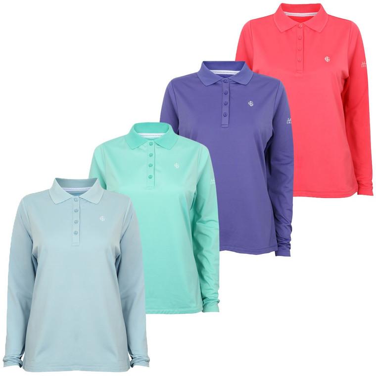 Island Green Long Sleeve Polo Shirt